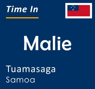Current time in Malie, Tuamasaga, Samoa