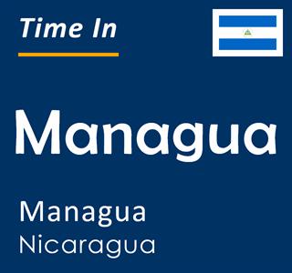 Current time in Managua, Managua, Nicaragua
