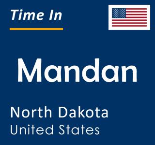 Current time in Mandan, North Dakota, United States