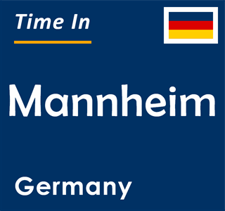 Current time in Mannheim, Germany