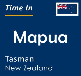 Current time in Mapua, Tasman, New Zealand