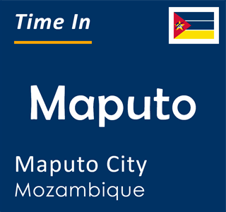 Current time in Maputo, Maputo City, Mozambique