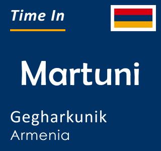Current time in Martuni, Gegharkunik, Armenia