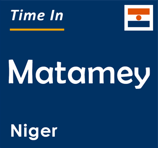 Current time in Matamey, Niger