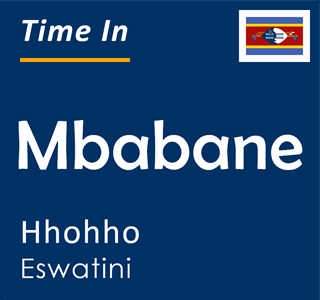 Current time in Mbabane, Hhohho, Eswatini