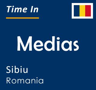 Current time in Medias, Sibiu, Romania