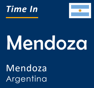 Current time in Mendoza, Mendoza, Argentina