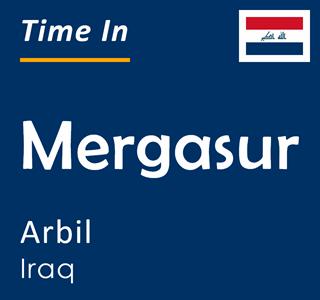 Current time in Mergasur, Arbil, Iraq