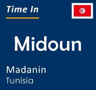 Current time in Midoun, Madanin, Tunisia