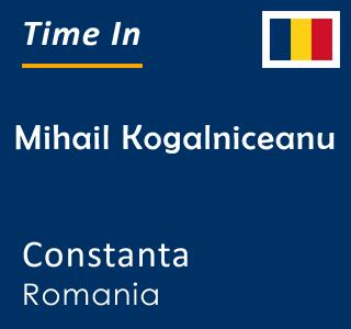 Current time in Mihail Kogalniceanu, Constanta, Romania