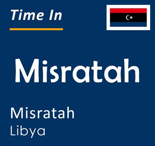 Current time in Misratah, Misratah, Libya