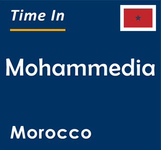 Current time in Mohammedia, Morocco