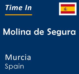 Current time in Molina de Segura, Murcia, Spain