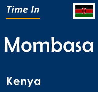 Current time in Mombasa, Kenya