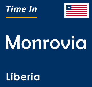 Current time in Monrovia, Liberia