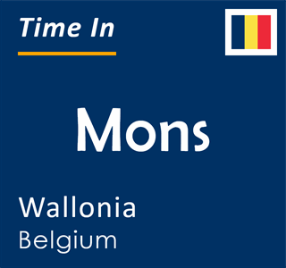 Current time in Mons, Wallonia, Belgium