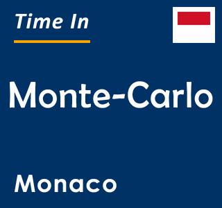 Current time in Monte-Carlo, Monaco