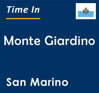 Current time in Monte Giardino, San Marino