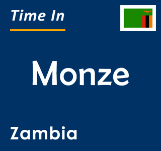 Current time in Monze, Zambia