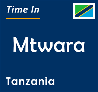 Current time in Mtwara, Tanzania
