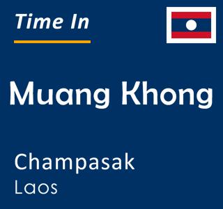 Current time in Muang Khong, Champasak, Laos