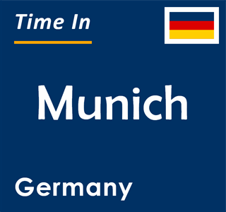 Current time in Munich, Germany