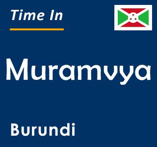 Current time in Muramvya, Burundi
