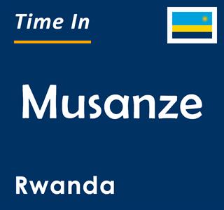 Current time in Musanze, Rwanda