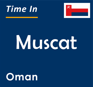 Current time in Muscat, Oman