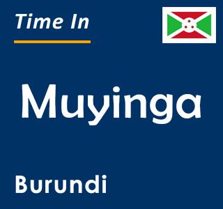 Current time in Muyinga, Burundi