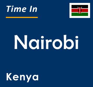Current time in Nairobi, Kenya