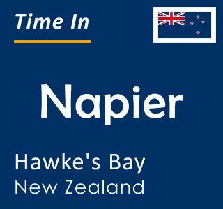 Current time in Napier, Hawke's Bay, New Zealand