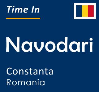 Current time in Navodari, Constanta, Romania