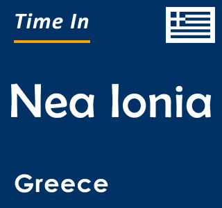 Current time in Nea Ionia, Greece