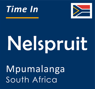 Current time in Nelspruit, Mpumalanga, South Africa