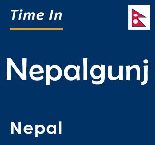 Current time in Nepalgunj, Nepal