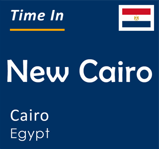 Current time in New Cairo, Cairo, Egypt