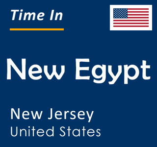 Current time in New Egypt, New Jersey, United States