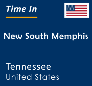 Current time in New South Memphis, Tennessee, United States