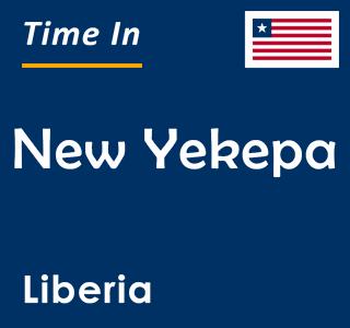 Current time in New Yekepa, Liberia