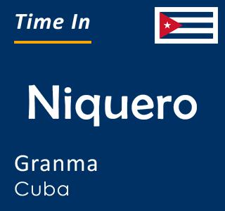 Current time in Niquero, Granma, Cuba