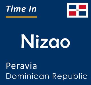 Current time in Nizao, Peravia, Dominican Republic