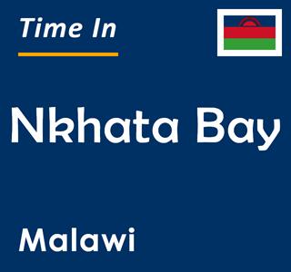 Current time in Nkhata Bay, Malawi