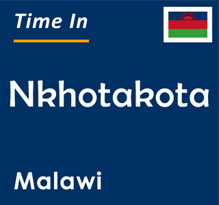 Current time in Nkhotakota, Malawi