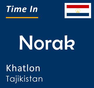 Current time in Norak, Khatlon, Tajikistan