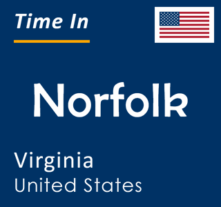 Current time in Norfolk, Virginia, United States