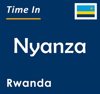Current time in Nyanza, Rwanda