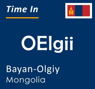 Current time in OElgii, Bayan-Olgiy, Mongolia
