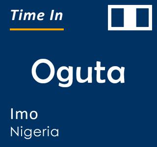 Current time in Oguta, Imo, Nigeria