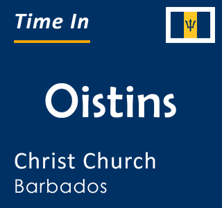 Current time in Oistins, Christ Church, Barbados